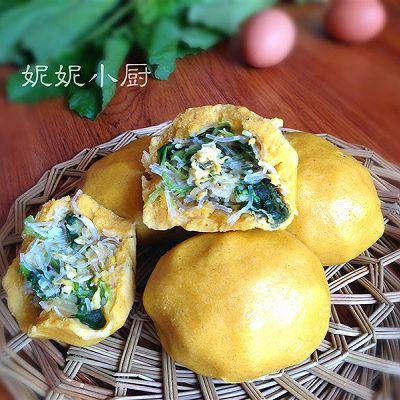 小白菜玉米面团子