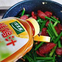 蒜苔炒腊肠#太太乐鲜鸡汁玩转健康快手菜#的做法图解11