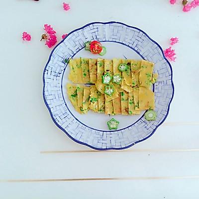【快手早餐】秋葵鸡蛋饼