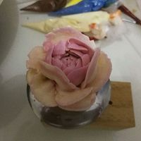 3D手绘立体场景裱花蛋糕~父女俩的做法图解6