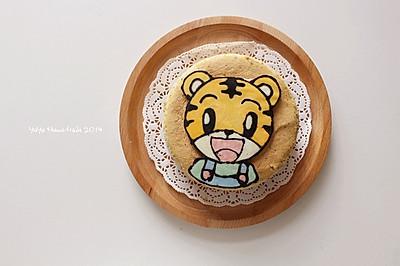 儿童节快乐--巧克力转印法巧虎蛋糕