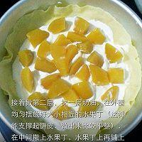 千层黄桃草莓蛋糕的做法图解12