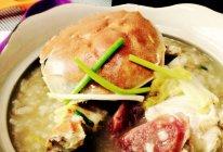 鲜咸蟹粥的做法