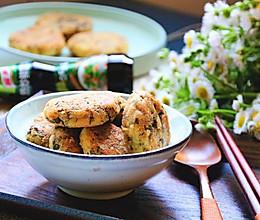 香椿豆渣饼#鲜香滋味,搞定萌娃#的做法