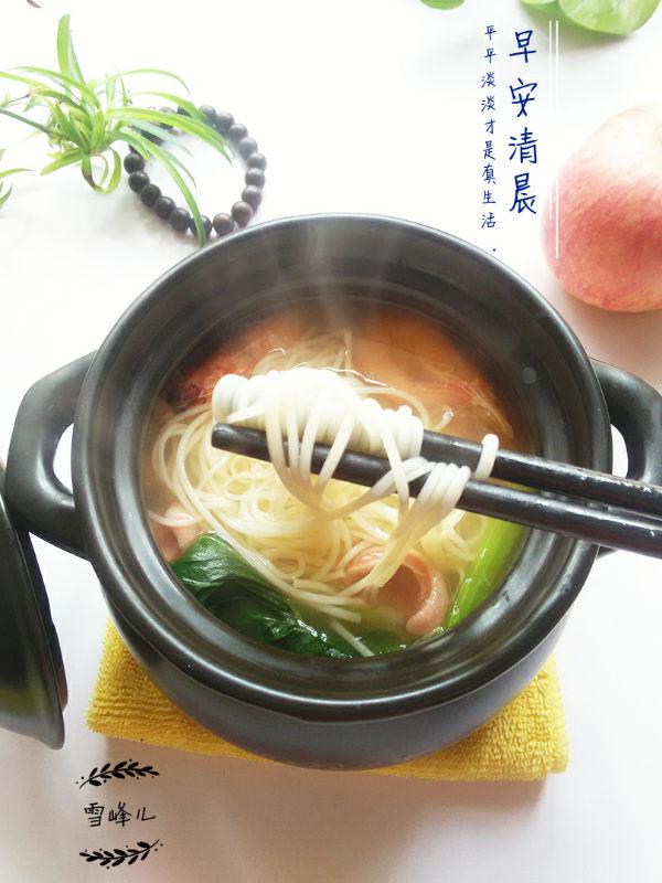 砂锅煮面的做法步骤