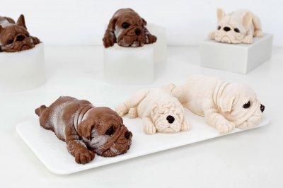嗨焙食谱 | 刷屏朋友圈的3D狗狗慕斯蛋糕