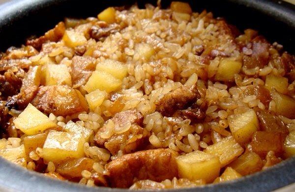 土豆红烧肉饭