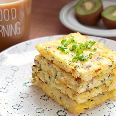 香菇鸡蛋米饭饼