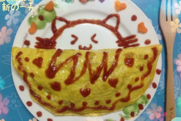 萌猫蛋包饭的做法