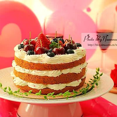 水果爱恋可可裸蛋糕