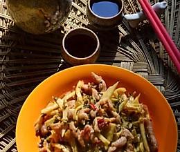 肉丝炒笋丝咸菜的做法