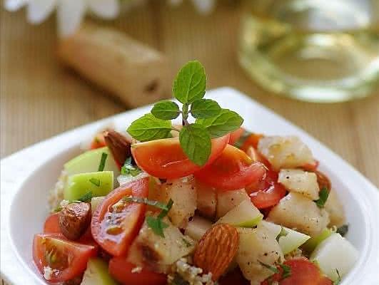 鱼粮满仓的健康沙拉 —— 添加营养黄金的麦香鳕鱼杏仁沙拉的做法