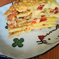 宝宝食谱~鸡蛋西红柿饼的做法图解4