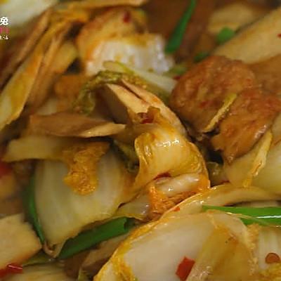 豆瓣香干炒白菜,没有肉也能做得超下饭!的做法 步骤4