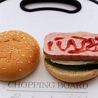 #秋天怎么吃#快手午餐肉黄瓜汉堡包的做法图解8