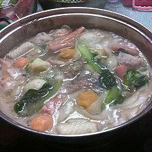 不加锅底料的涮羊肉