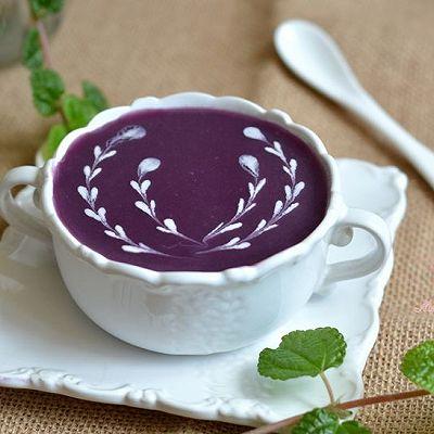 紫薯糯米糊