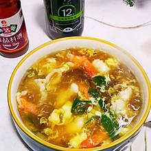 #福气年夜菜#鲜虾片紫菜蛋汤
