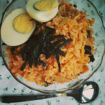 韩式泡菜炒饭(一吃忘不掉的米饭)
