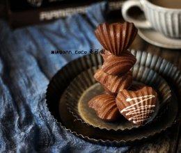 #洗手作羹汤#心型巧克力玛德琳蛋糕的做法
