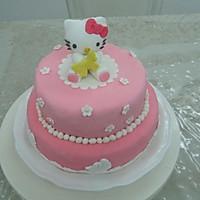 HOLLETKITY粉色双层翻糖蛋糕#九阳烘焙剧场#的做法图解50