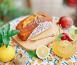 """#""""莓""""好春光日志#百香果磅蛋糕&蔓越莓百香果柠檬气泡水的做法"""