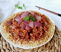 洋葱肥牛送米饭的做法