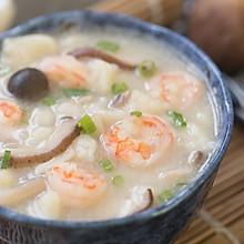 菌菇鲜虾疙瘩汤