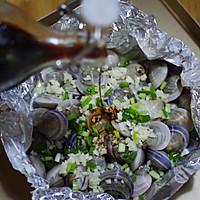 锡纸烤蛤蜊的做法图解5