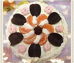 8寸 生日蛋糕的做法