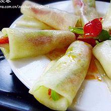 保你爱吃的夏日时令消暑菜------酸辣瓜皮卷