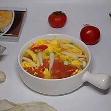 番茄菌菇蛋汤#今天吃什么#