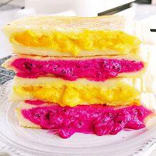 10分钟完成一份❤️爆浆水果三明治好吃不胖
