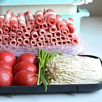 番茄金针菇肥牛汤的做法图解1