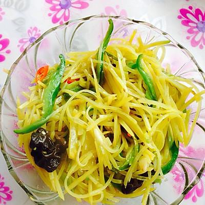 土豆丝(黄瓤那种土豆)
