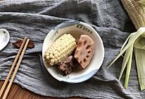 冰糖爆浆玉米之排骨玉米莲藕汤的做法