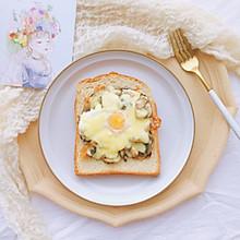 快手早餐—蘑菇云三明治