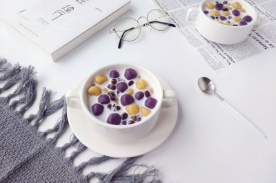 牛奶蜜豆芋圓