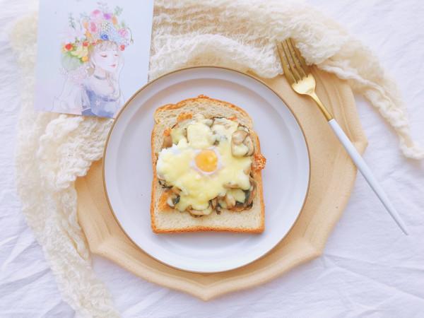 快手早餐—蘑菇云三明治的做法