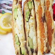 #我的养生日常-远离秋燥#4样食材解决早餐难题,素味三明治