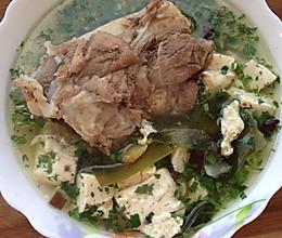 排骨海带豆腐汤的做法