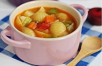 减肥瘦身低热量,蔬菜意面浓汤