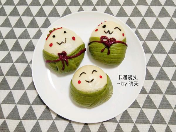 #甜粽VS咸粽,你是哪一党?#卡通馒头似粽不是粽~的做法