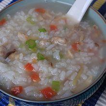 香菇鸡丝蔬菜粥