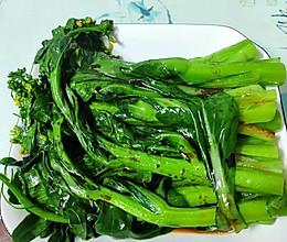 素食 广式白灼菜心 如何做得翠绿爽脆清香的做法