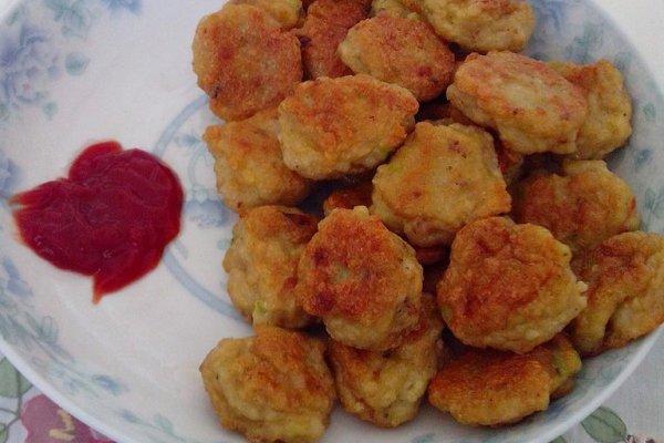 黄金鲜虾豆腐饼的做法