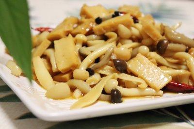 #带着美食去踏青#蟹味菇拌鱼豆腐