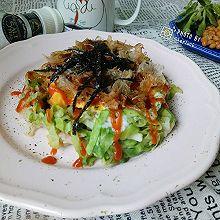 【快手健康轻食】低脂大阪烧