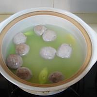 菌菇莴笋牛肉丸汤的做法图解6
