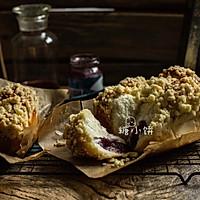 """【蓝莓爆弹面包】#在""""家""""打造ins风美食#"""